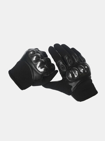 Men Leather Wear-resistant Non-slip Tactical Military Training Anti-cut Full Finger Gloves