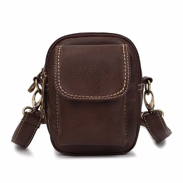 Women Men Retro Front Zipper Pocket 5.5'' Phone Bags Shoulder Bags Vintage Crossbody Bags Waist Bags