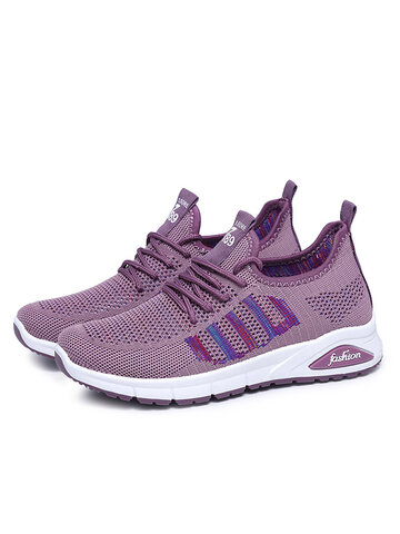 Mesh Casual Lace-up Sneakers