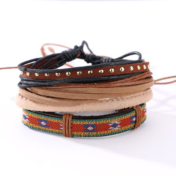 Casual multi bracciali in pelle