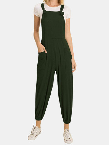 Casual Pockets Jogger Jumpsuit