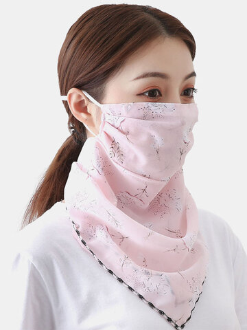 Outdoor Riding Face Mask Summer Printing
