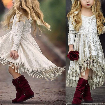 Girls Tassel Princess Dress For 1Y-7Y