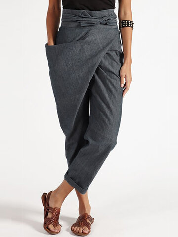 Casual Wrap Harem Pants