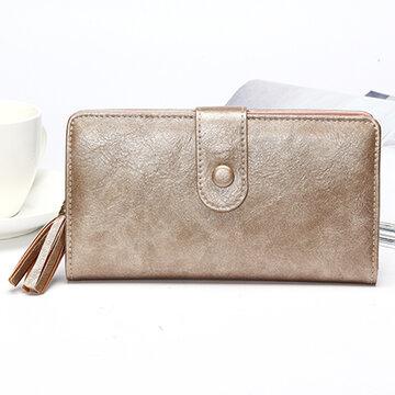 Women Laser PU Leather Wallet Elegant Wallet Purse Wristlet Wallet Clutches Bag