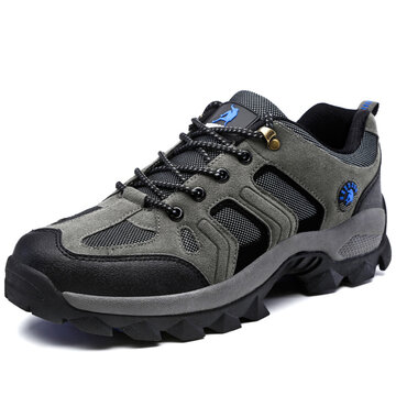 Men Suede Waterproof Casual Hiking Sneakers