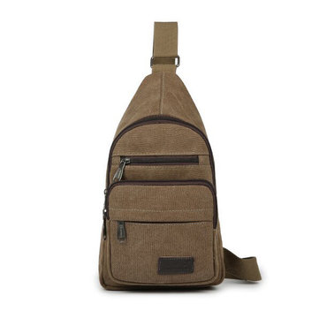 Men Women Canvas Casual Outdoor Shoulder Crossbody Chest Bag