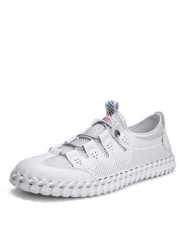 Мужские короткие дышащие туфли для ручной строчки