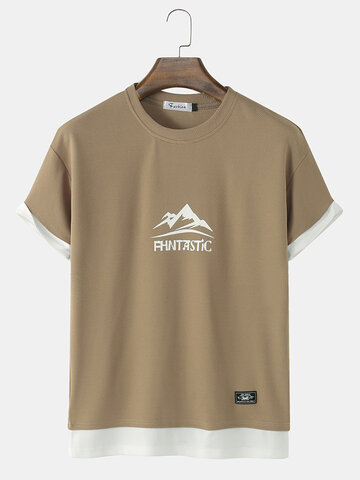 Graphics Faux Twinset T-Shirt