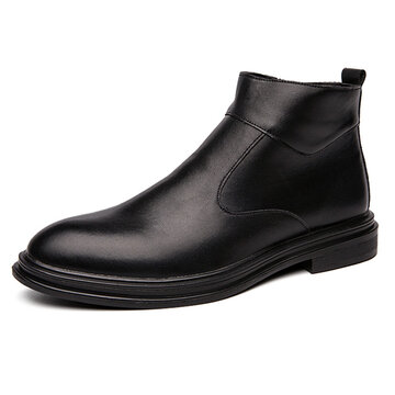 Men Black Business Business Dress Boots