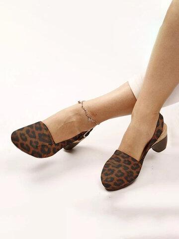 أحذية عادية بدون ظهر بكعب منخفض