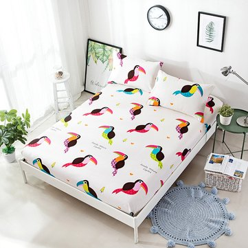 New Fitted Sheet Bird Printed Bedding Sets
