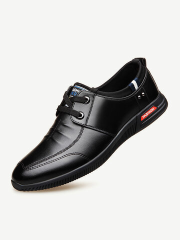 Men Soft Microfiber Leather Business Casual Shoes