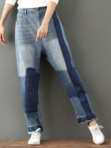 Casual Loose Ankle-length Women Jeans фото