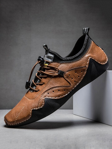 Men Hand Stitching Casual Driving Shoes