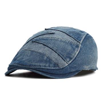 Gorra de vaquero de mezclilla vintage de verano para hombre