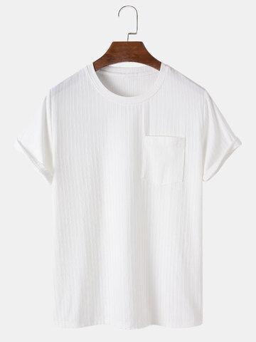 Solid Color Pocket Basics T-Shirt