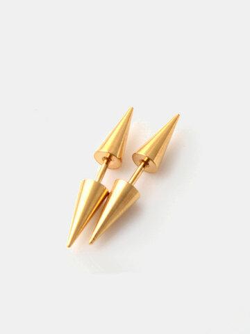 Men's Cone Titanium Steel Earrings