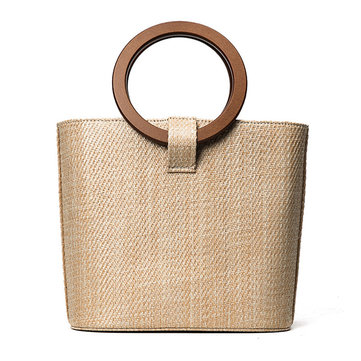 Women Straw Braid Beach Bag High-end Crossbody Bag
