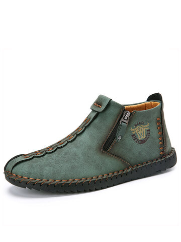 Menico Men Hand Stitching Leather Casual Boots