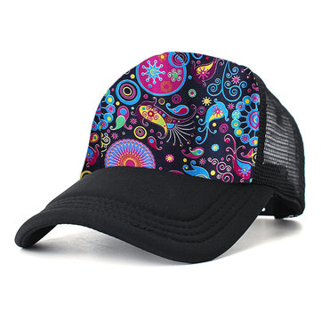 Funny Comb Color Print Breathable Cotton Baseball Hat