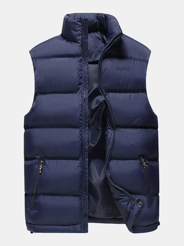 Più dimensione Casual Winter Thicken Vest