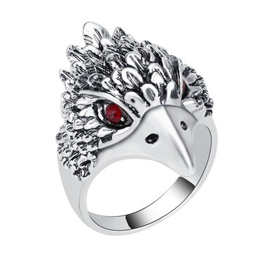 Punk Eagle Plating Inlay Ring