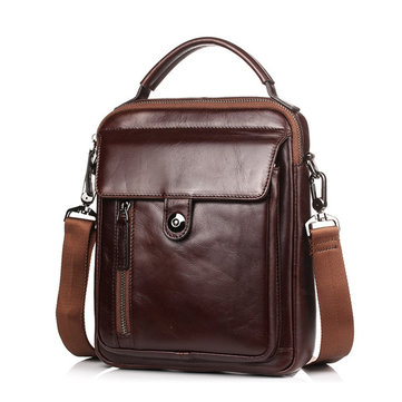 Leather Vintage Crossbody Bag For Men