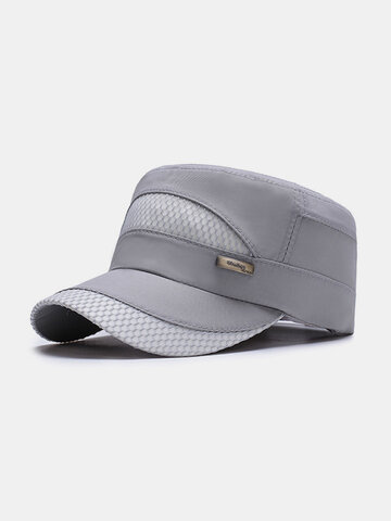 Wide Brim Solid Quick-Drying Flat Cap