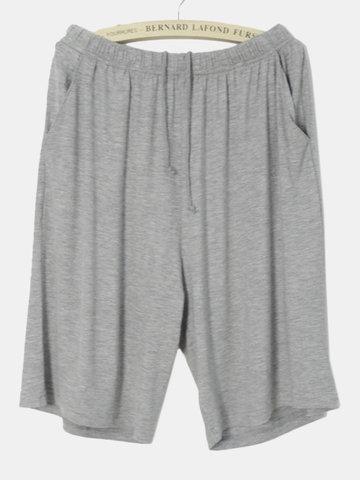 Casual de modal transpirable suelto grande ropa de dormir en casa shorts para hombres