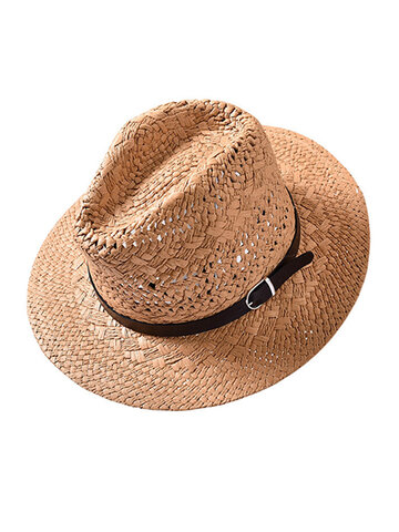 Casual Foldable Sunscreen Panama Jazz Cap