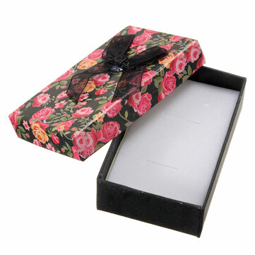Flower Bowknot Jewelry Paper Gift Box