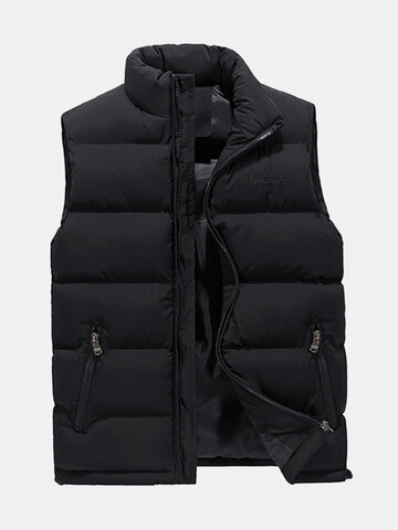 Solid Color Quilted Vest
