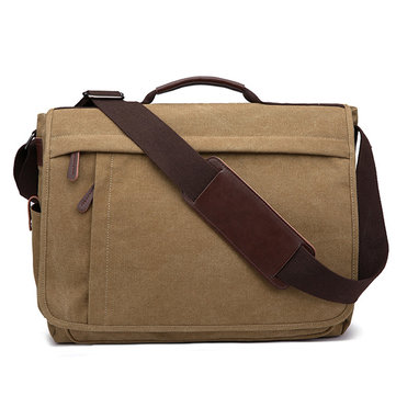 Large Capacity Canvas Business Laptop Bag Crossbody Bag