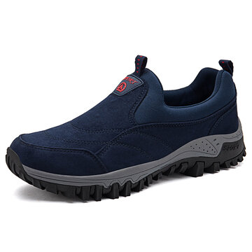 Men Suede Non Slip Casual Hiking Shoes