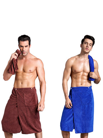 Bath Wrap Towel with Pocket for Men