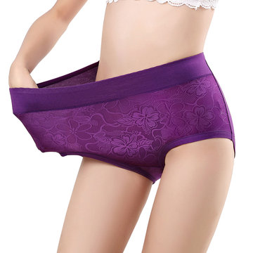 Plus Size High Waist Panties