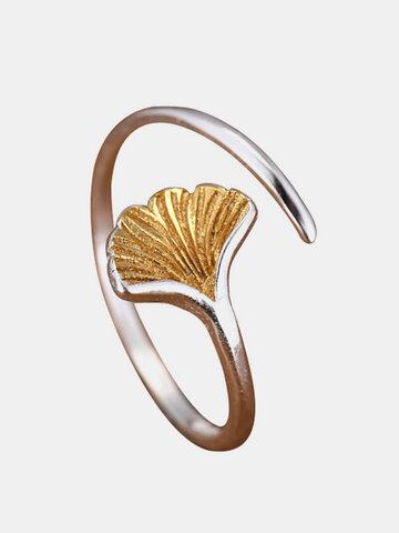Ginkgo Leaf Open Ring