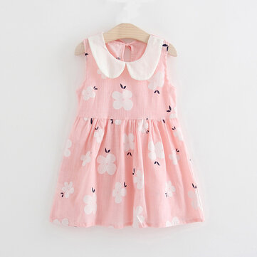 Cute Girls Collar Girls Dress per 2Y-9Y