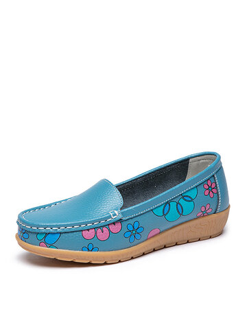 Floral Pattern Casual Flat Shoes