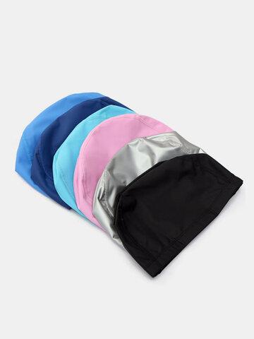 Men Women Waterproof Hats Silicone Protect Ears Sports Swimming Cap