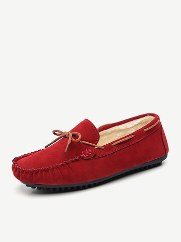 Suede Hand-Stitching Comfortable Loafers Shoes