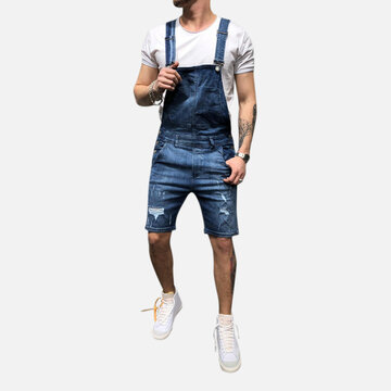 Mens Denim Overalls Suspenders