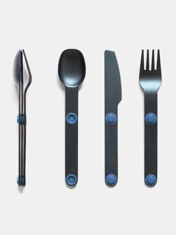 1 Set Portable Magnetic Tableware Cutlery Spoon Stainless Steel Western Cutlery Knife Fork And Spoon Set
