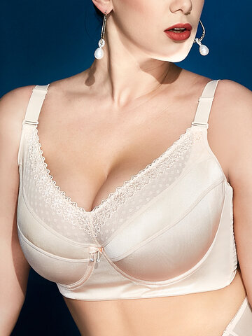 Full Coverage Lace Patchwork Bras