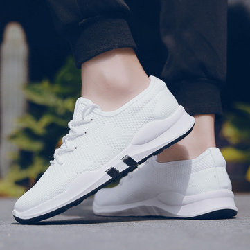 New Sports Men's Shoes Trend New Really Flying Woven Men's Casual Shoes Comfortable Breathable Running Shoes Sneakers