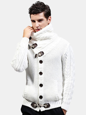 Wool Thicken High Collar Casual Sweater