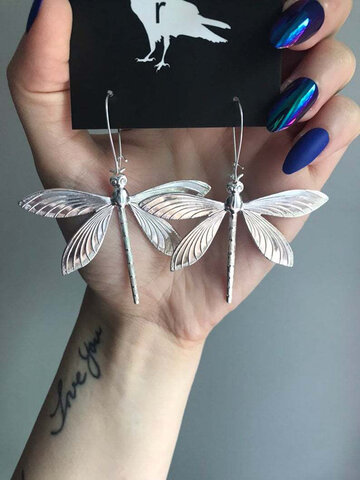 Alloy Dragonfly Shape Earrings