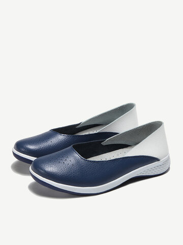 Casual Soft Cow Leather Hollow Flats