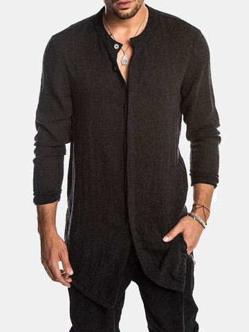 Mid Long Black Camisa